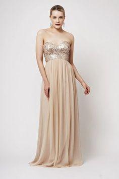 Rose gold bridesmaid dress