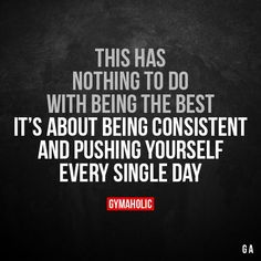 This has nothing to do with being the best It's about being consistent and pushing yourself every single day. More motivation: https://www.gymaholic.co #fitness #motivation #gymaholic