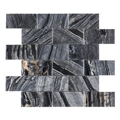 Shop Faber  12-in x 12-in Zebra Black Brick Polished Natural Stone Mosaic Floor and Wall Tile at Lowe's Canada. Find our selection of floor tile at the lowest price guaranteed with price match + 10% off.