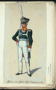 Russia, Guard Infantry, Preobrazhensky Regiment, Officer 1813