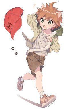 Danganronpa 1, Danganronpa Characters, Byakuya Togami, Makoto Naegi, Cute Egg, Trigger Happy Havoc, Old Anime, Fanart, Human Art