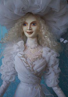 "Ooak art doll ""Lady in white"" by AKVARELA on Etsy https://www.etsy.com/listing/220784524/ooak-art-doll-lady-in-white"