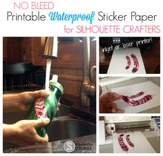 Waterproof Sticker Paper, Printable Foil, Printable Iron On...Oh My! ~ Silhouette School
