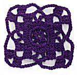 Crochet Motif X:  'Granny Style' Quad Rosette