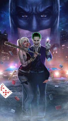 Joker and Harley Poster. Joker and Harley Poster Harley Quinn Tattoo, Harley And Joker Love, Harley Quinn Et Le Joker, Harley Quinn Drawing, Harley Quinn Cosplay, Harely Quinn And Joker, Margot Robbie Harley, Der Joker, Joker Art