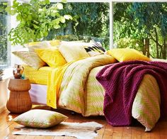 Kip & Co bedding on sale: off! - The Interiors Addict Greenhouse Interiors, Pink Quilts, Big Design, Flat Sheets, Bedding Collections, Dream Bedroom, Home Textile, House Colors, Interior And Exterior
