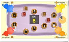 """Kitten Match"" (Juego de composición de números mediante la suma) Learning Numbers, Maths Area, Teaching Resources, Yarns"