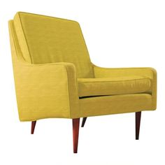 ThriveFurniture.com     I have dreams about this chair in a deep denim blue.  I sent for their swatch and the denim isn't heavy like blue jeans, but still a nice color.