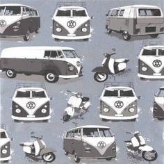 Volkswagen Auto Behang Zwart / Wit bij Behangwebshop