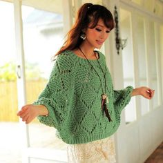 Women's Hand Knit Boatneck Sweater – Hand Knitting Knitting Designs, Knitting Stitches, Hand Knitting, Knitting Patterns, Hand Knitted Sweaters, Knitted Poncho, Cardigan Sweaters For Women, Women's Sweaters, Handgestrickte Pullover