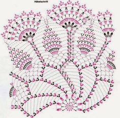 Create a lacy doily with this doily crochet pattern to accent any table in your home. This intermediate crochet pattern uses a small 2 crochet hook mm) and Filet Crochet, Mandala Au Crochet, Crochet Doily Diagram, Crochet Circles, Crochet Doily Patterns, Crochet Chart, Thread Crochet, Crochet Stitches, Confection Au Crochet