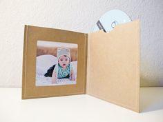 Estuches de DVD / mangas - 40 mangas marrón cosida DVD con foto apertura izquierda