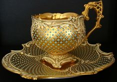 Your morning cup of coffee served to you in a gold cup.  Now have a fantabulistic day.  :-)