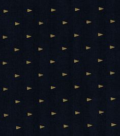 Keepsake Calico™ Cotton Fabric-Triangles On Navy With Gold Metallic
