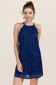 Ari Scalloped Lace Shift Dress
