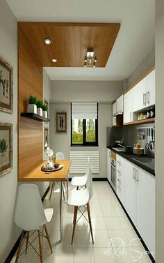50 Terrific Small and Simple Kitchen Design Ideas - Don't really feel limited by a small kitchen area. These 50 layouts for smaller sized kitchen roo - Kitchen Flooring, Kitchen Furniture, Kitchen Interior, Kitchen Cabinets, Kitchen Backsplash, Kitchen Countertops, Kitchen Appliances, Diy Furniture, Island Kitchen