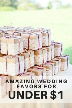 Wedding Favors for Less Than $1 - I don't care for the article, but love the packaging in this picture. #WeddingIdeasSouvenir