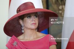 Queen Maxima of The Netherlands during a press...