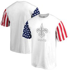 New Orleans Saints NFL Pro Line by Fanatics Branded Stars & Stripes T-Shirt  -