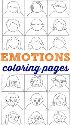 Coloring Pages - Help Kids With Feelings Emotions coloring pages for kids to help them learn about feelings.Emotions coloring pages for kids to help them learn about feelings. Feelings Activities, Counseling Activities, Therapy Activities, Learning Activities, Activities For Kids, Social Emotional Learning, Social Skills, Social Work, Teaching Emotions
