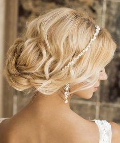 chignon wedding hairstyles, low bun wedding hairstyles - chignon for weddings