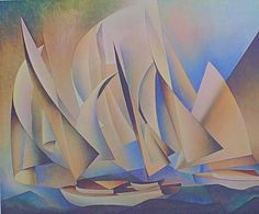 Charles Sheeler Pertaining To Yachts And Yachting 1962 Lithograph