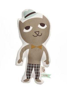 Coussin Mr Cat de Ferm Living  http://www.homelisty.com/cadeaux-deco-amoureux-chats/