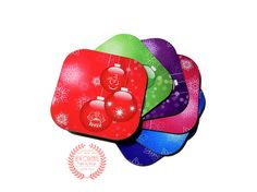 Christmas Ornament Coasters Set of 6  by NOLACraftsbyDesign