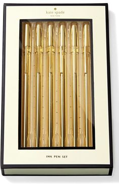 kate spade new york 'strike gold' pen set (6-Pack)