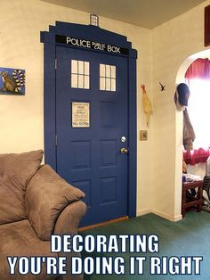 TARDIS @Carrie Mcknelly Mcknelly |  Bake No Prisoners Saw this and thought of you!