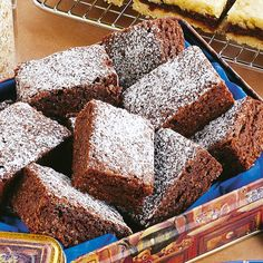 The coconut gives this brownie a lovely chewy texture and the use of cocoa versus chocolate makes it very economical.