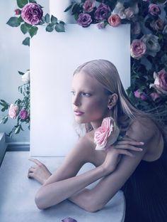 Publication: Dior Magazine #5 Spring 2014 Model: Elisabeth Erm Photographer: Camilla Akrans Make-up: Wendy Rowe