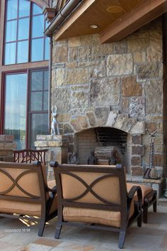 Add an outdoor fireplace to the exterior of your home for an intimate setting!