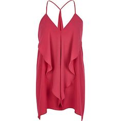 Pink longline draped cami top £15.00 - river island