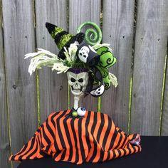 Items similar to Skull centerpiece~skull decor~halloween centerpiece~halloween skull decor~halloween skull centerpiece~skull floral arrangment~fall decor on Etsy Halloween Centerpieces, Halloween Decorations, Snowman Wreath, Skull Decor, Fireplace Mantle, Halloween Skull, Accent Pieces, Floral Arrangements, Fall
