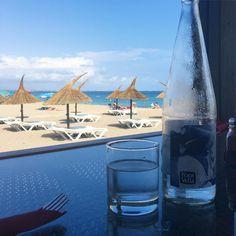 Todays view from the office thirsty work! #lovespain #lovetravel #getaway #Luxurytravel #beachclub #seaviews #catalunya #beachview #spaininstyle