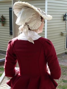 cranberry wool jacket, 1770s by Fashionable Frolick, via Flickr