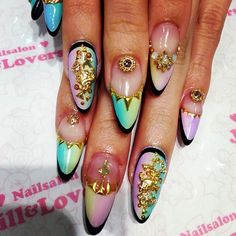 Nail art and other stuff Get Nails, Fancy Nails, Bling Nails, Love Nails, How To Do Nails, Hair And Nails, Stiletto Nails, Fabulous Nails, Gorgeous Nails