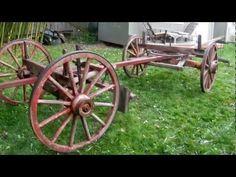 Resultado de imagen para undercarriage of a horse-drawn coach Horse Drawn Wagon, Wooden Wagon, Old Wagons, Covered Wagon, Popular Mechanics, Wagon Wheel, Running Gear, Westerns, Horses
