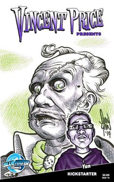 Cover of my book, featuring zombie caricature of my books namesake. Original illustration will be up for grabs as a reward. https://www.kickstarter.com/projects/stanyan/vincent-price-comic-book-caricature-project