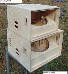 Hi im looking for some mini scoop plans Edited by Custom Speaker Boxes, Speaker Box Design, Diy Subwoofer, Subwoofer Box Design, Pro Audio Speakers, Diy Speakers, Horn Speakers, Rcf Audio, Homemade Speakers