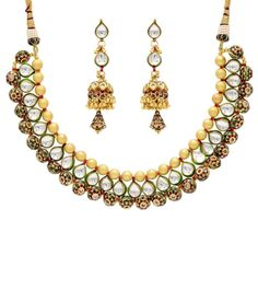 dark green wedding kundan necklace set - Google శోధన