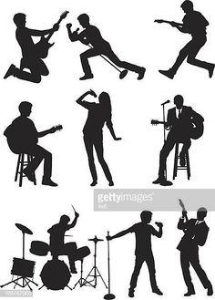 Rock band Vocalistas guitarra y tambores Rock Bands, Stencils, Musicals, Studio, Character, Diy Ideas, February, Random, Pictures