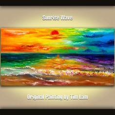 Sea art Abstract Painting Original Acrylic Painting by elseart, $309.00