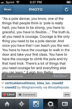 Yes!!! Need to get out of my comfort zone and take my first class, 2014 I said I would try something new, pole fitness is one of them things.