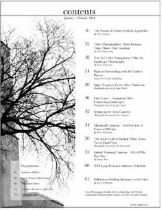 magazine table of contents redesigned