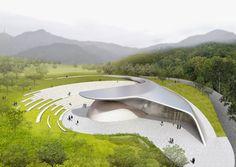 Landscape Architecture Model, Pavilion Architecture, Architecture Graphics, Green Architecture, Futuristic Architecture, Concept Architecture, Sustainable Architecture, Residential Architecture, Landscape Design