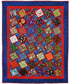 I have been gathering various fabrics so I can make this I Spy Quilt for my Grandsons.  This quilt was designed by Maria O'Haver.