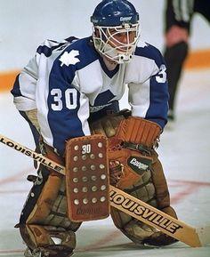 Allan Bester (1983-1991) Flyers Hockey, Hockey Goalie, Field Hockey, Hockey Players, Ice Hockey, Hockey Shot, Maple Leafs Hockey, Goalie Mask, Nfl Fans