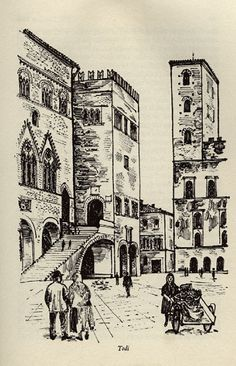Todi, Hill Towns of Italy. Illustrated by David Gentleman